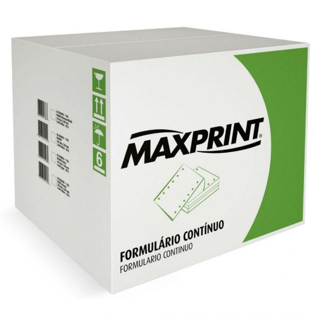 Formulário contínuo branco Maxprint 080 colunas 1 via 3.000 fls