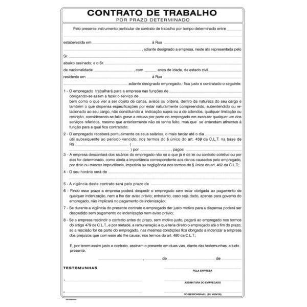 Bloco Contrato de Trabalho SD 6644-9 50fls