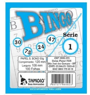 Bloco para Bingo 100 folhas  Azul - Tamoio