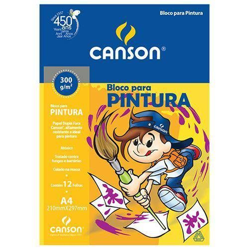 Bloco Pintura Canson A4 300 grs com 12 folhas ref 66667091