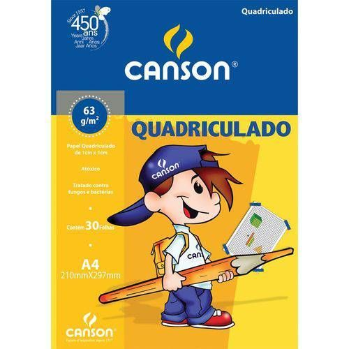 Bloco Quadriculado Canson A4 63 grs com 30 folhas ref 66667095