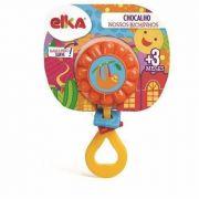 Brinquedo Chocalho Nossos Bichinhos Bicho Preguiça laranja Elka