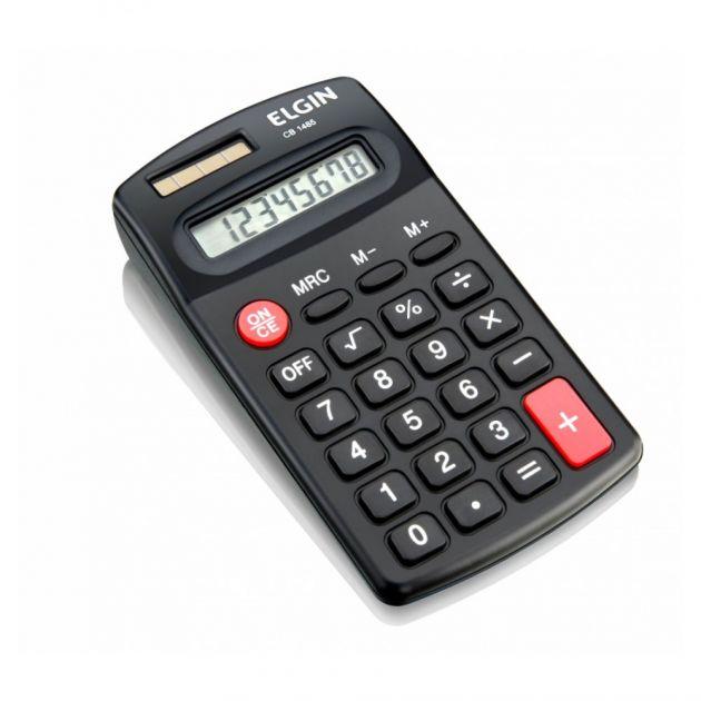 Calculadora Elgin CB1485 8 digitos bolso preta