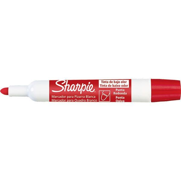 Caneta Pincel para quadro branco sharpie tank vermelho