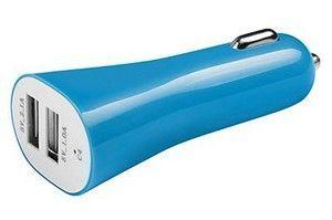 Carregador USB Universal Carro 2 Portas XC-KT03 Azul