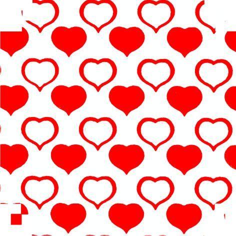 Cartolina americana dois corações 50X66