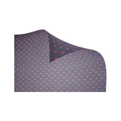 Cartolina Dupla Face Preta com Bolas Pink 48cm x 66cm