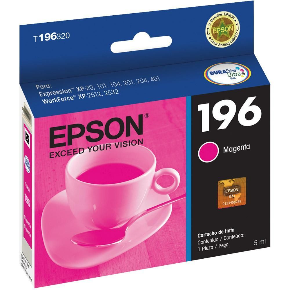 Cartucho Epson Expression Original 196 T196320BR 5 ml -  Magenta