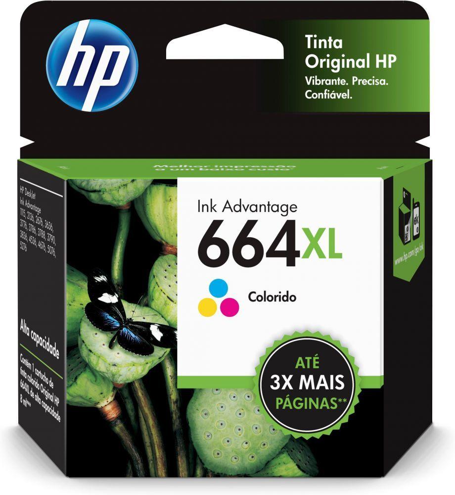 Cartucho HP 664XL Original Colorido F6V30AB 8 ml