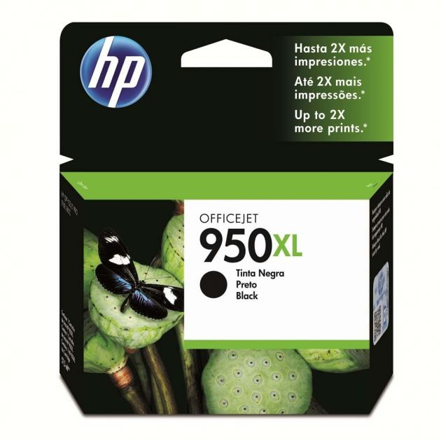 Cartucho HP 950XL preto CN045AB 53 ml