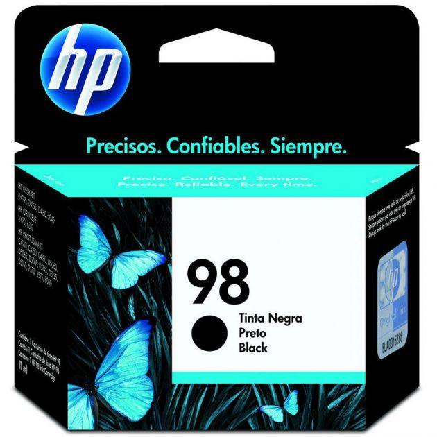 Cartucho HP 98 preto C9364WB 11 ml