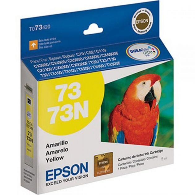 Cartucho Epson Stylus Original T073420BR 5 ml - Amarelo/Yellow