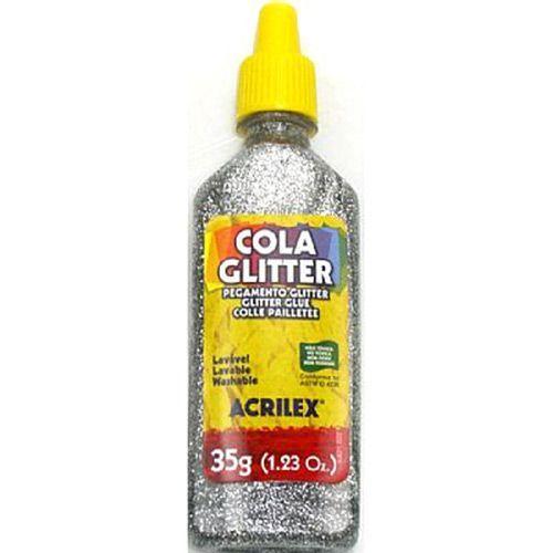Cola glitter Acrilex 35g - Prata