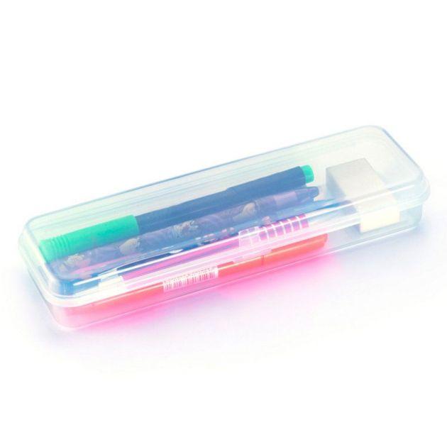 Estojo Escolar Waleu Plastico Transparente