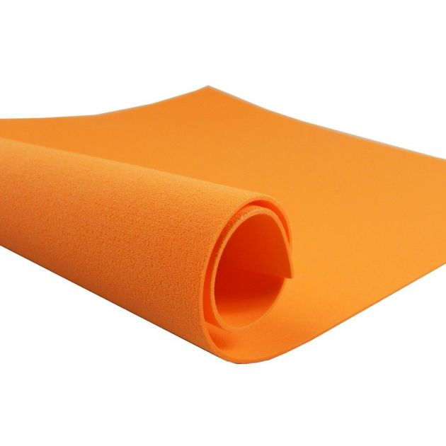 Folha de E.V.A. 48X40cm lisa cor laranja