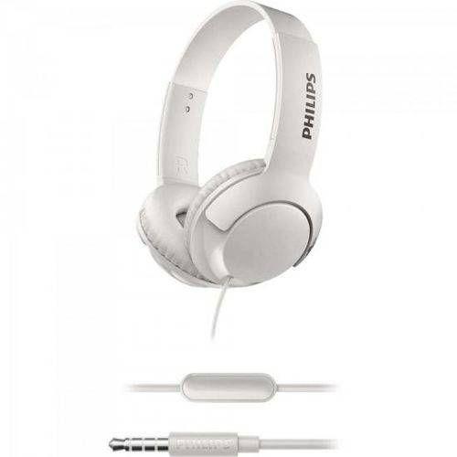Fone de Ouvido SHL3075WT/00 BASS+ On-ear Branco Philips