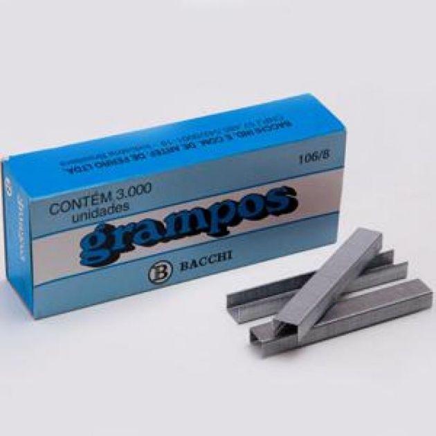 Grampos para Grampeador 106/8 Bacchi Galvanizado com 3000 unidades