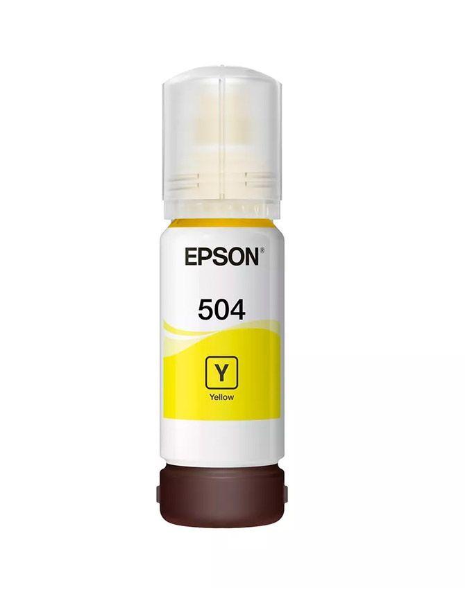 Jato Refil Epson Tanque T504420-AL Amarelo