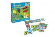 Jogo de domino Figuras e Frutas 28 peças ref 222 Ciabrink