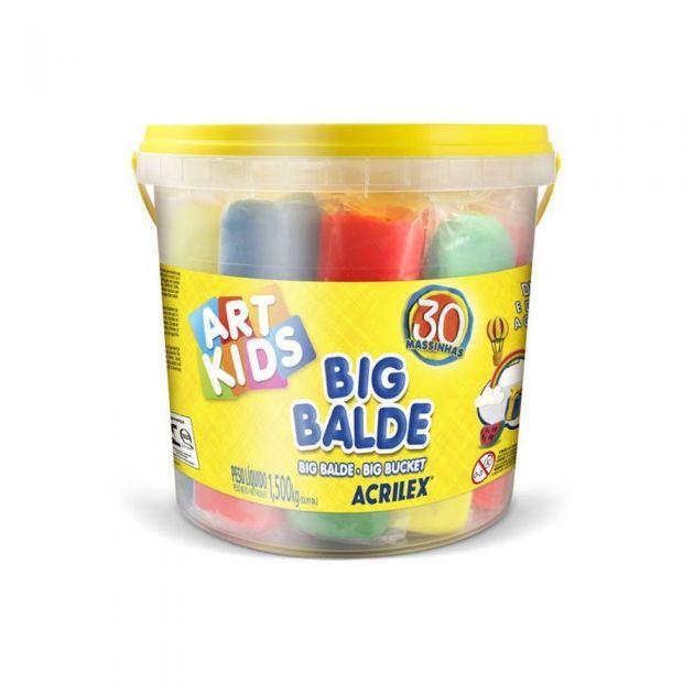 Massa para Modelar Big Balde Art Kids, Acrilex