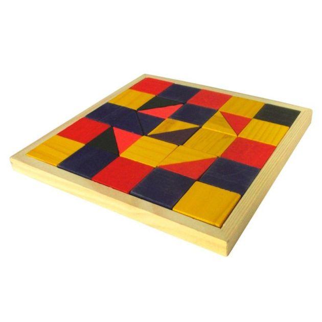 Mosaico colorido 32 peças madeira 02 formas ref 1332 Ciabrink