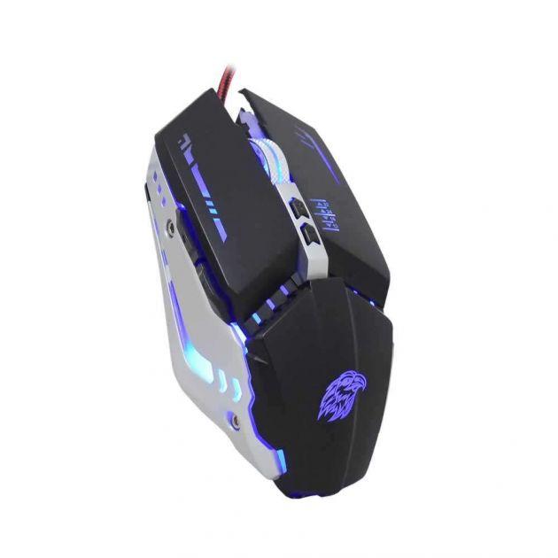 Mouse K-mex Gamer Mecanico M900 Usb Preto