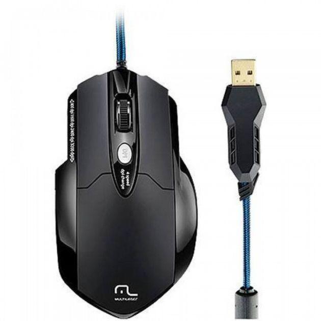 Mouse Profissional Gamer Laser 8 botões MO191 Multilaser