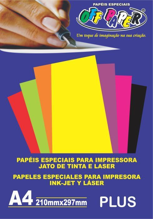 Papel Color Plus Amarelo 120g 20fls