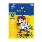Papel color plus criativo A4 80 grs 8 cores 32fls Canson ref 66667088