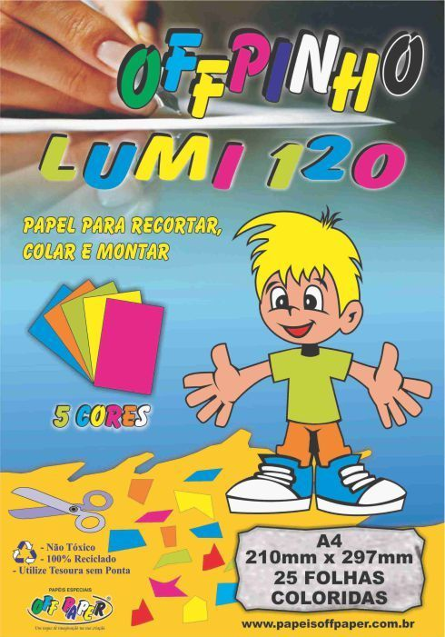 Papel Color Plus Offpinho LLumi 20 G 25 Fls