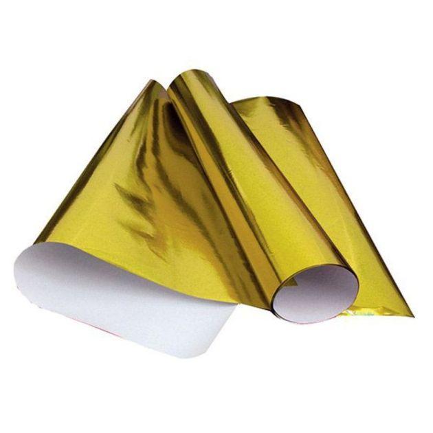 Papel Laminado 48cm x 60cm Dourado