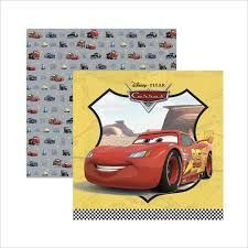 Papel para scrapbook Cars 30,5 x 31,5 cm estampas diversas pacote c/ 02 folhas