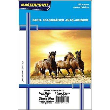 Photo Paper A4 Com 20 Folhas 130g Neutro Auto Adesivo