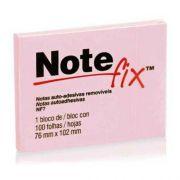 Recados Adesivos 76X102 1 Bloco NF7 Rosa 3M Notefix