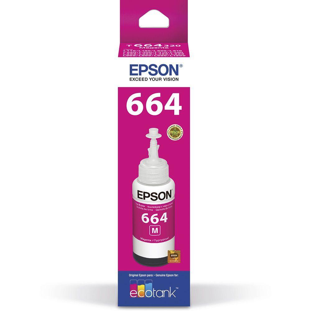 Refil para Ecotank Epson T664320AL magenta 70 ml