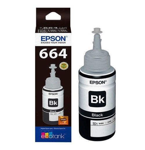 Refil para Ecotank Epson T664120AL preto 70 ml