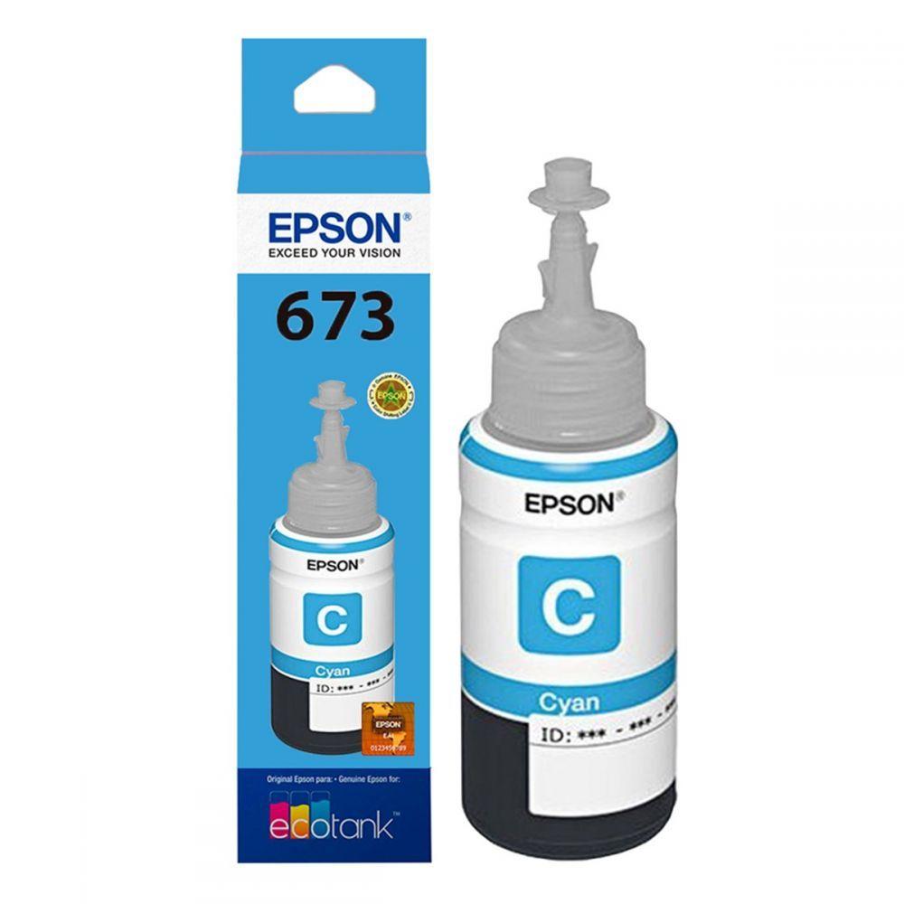 Refil para Ecotank L800 Epson T673220 ciano 70 ml