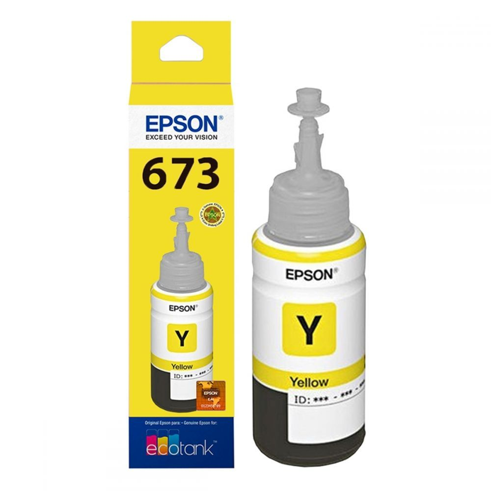 Refil para Ecotank L800 Epson Original T673420AL 70 ml - Amarelo