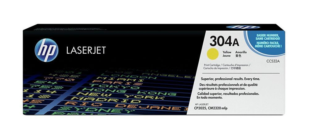 Toner HP 304A Amarelo CC532A